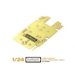 Chassis plate for SC-8002 SWB Brass 1.5mm